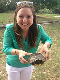 Chelsea and turtle friend