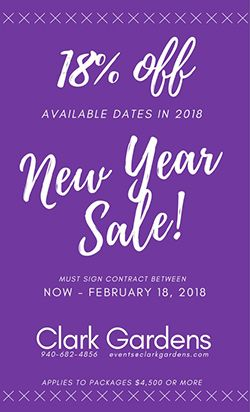 Clark Gardens 2018 New Year's Sale